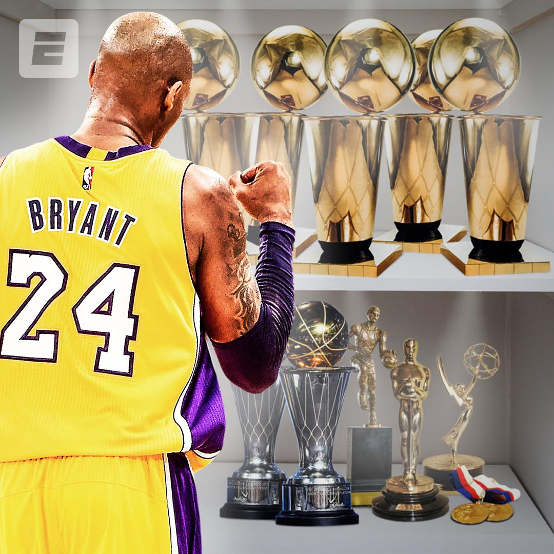 A trophy case fit for a legend 🏆 @kobebryant turns 41 today.