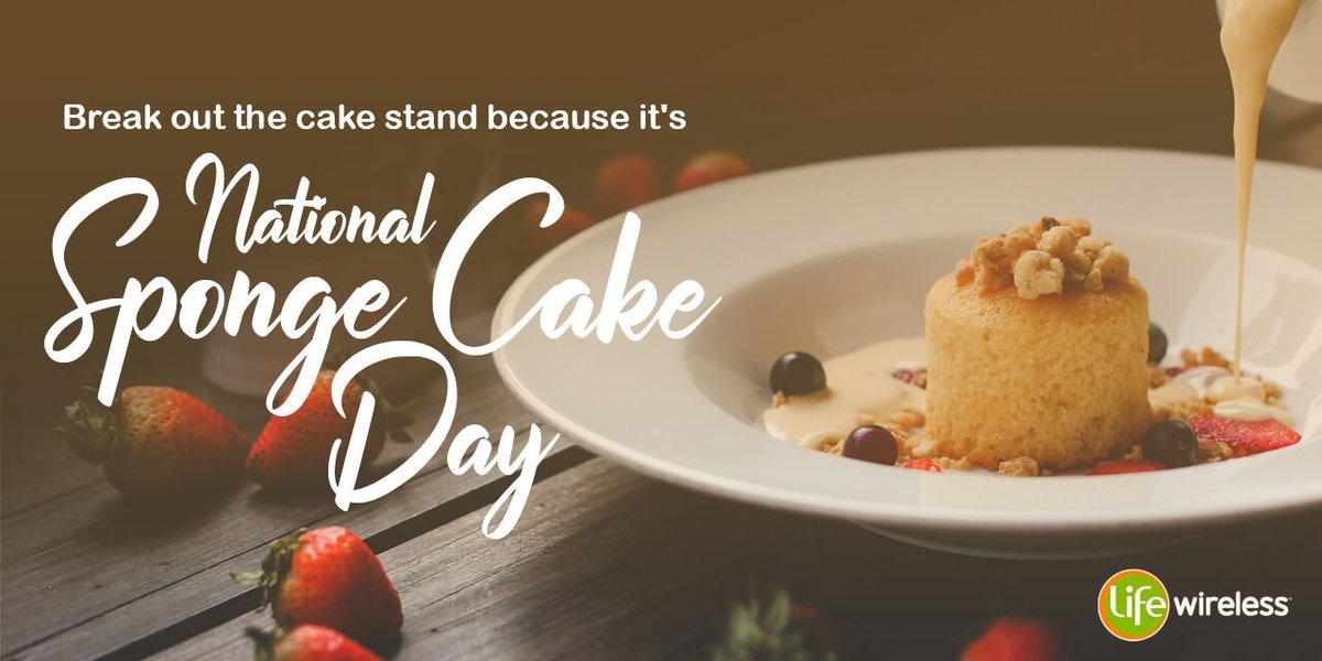 What better way to kick off #FriYay than with some cake! #nationalspongecakeday #spongecake #lifewireless #lifeissweet #tgif #weekendready #fridaytreats #explore<br>http://pic.twitter.com/2cbzEJgZIG