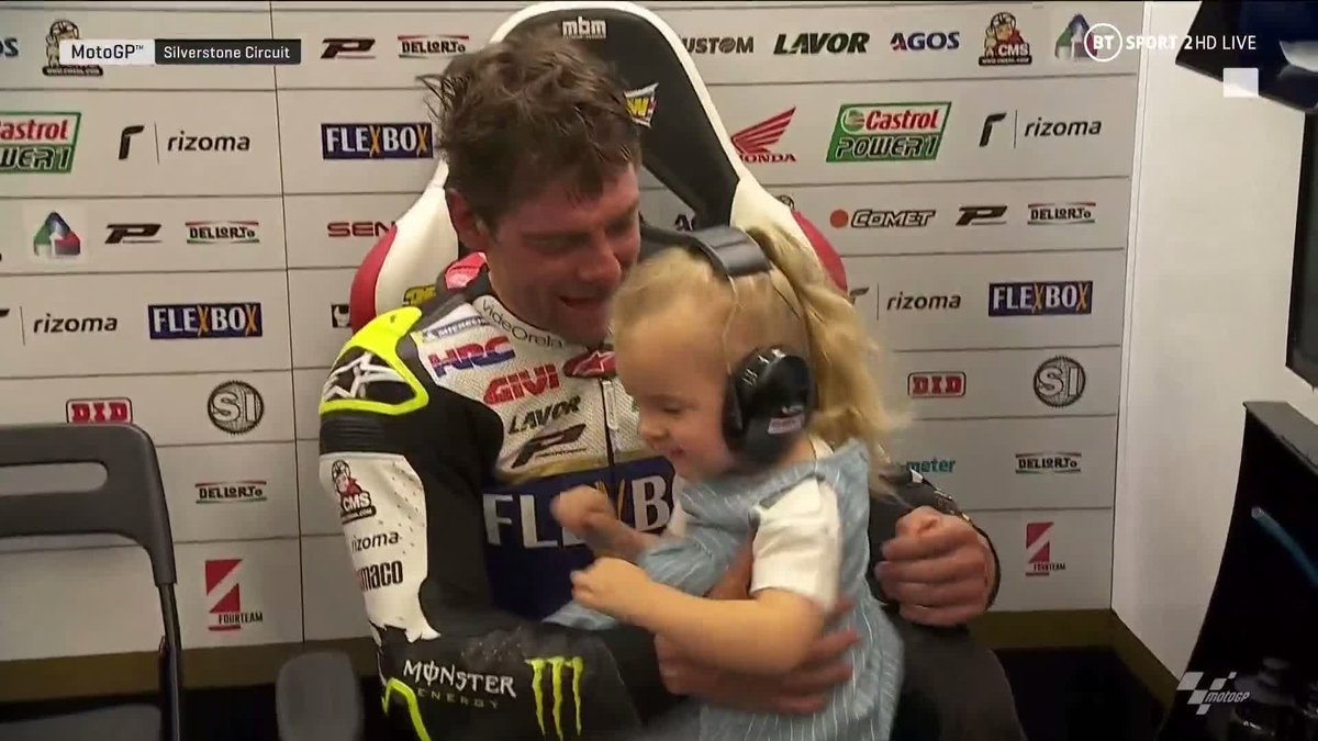This is what it's all about 😊  When Cal Crutchlow spotted his daughter, Willow, following the #BritishGP ❤️
