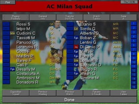 "90s Football on Twitter: ""AC Milan, Championship Manager 2.… """