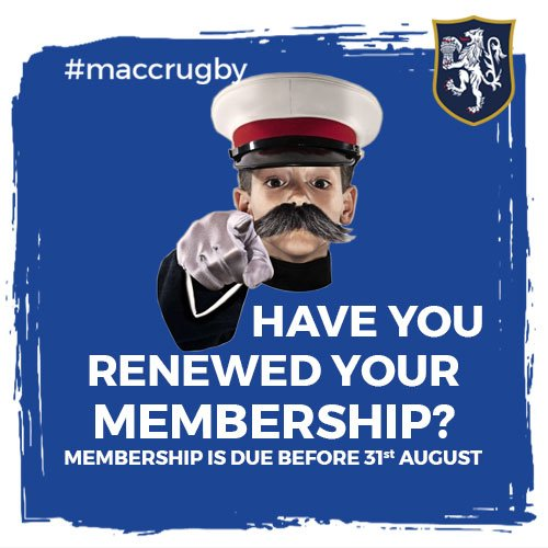 test Twitter Media - Don't forget to renew your membership in time for the 2019/20 season! Pay upfront or with instalments to make things easier. Either way, we want YOU to join us for another fantastic year of rugby! https://t.co/SSL0Iagy59 #MaccRugby 🏉 https://t.co/5EK5pLhVo6