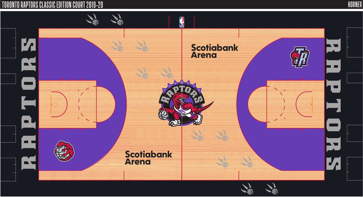 Looking like the Raptors are going old school for some games during th