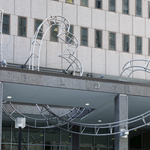 "Check out ""Swing Over,"" an aluminum and steel sculpture by artist Alice Aycock, commissioned through GSA's Art in Architecture Program and located at the G.H. Fallon Federal Building in #Baltimore, MD. https://t.co/5WdVUpluQL #NationalMarylandDay"