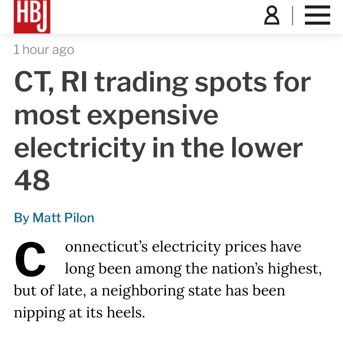 The numbers don't lie! Why be dependent upon the utility when you can generate your own power and not be subject to constant rate changes?? Thanks to the Hartford Business Journal for this!•••••#friday #ctecsolar #energy #utility #gogreen #solar #weepc