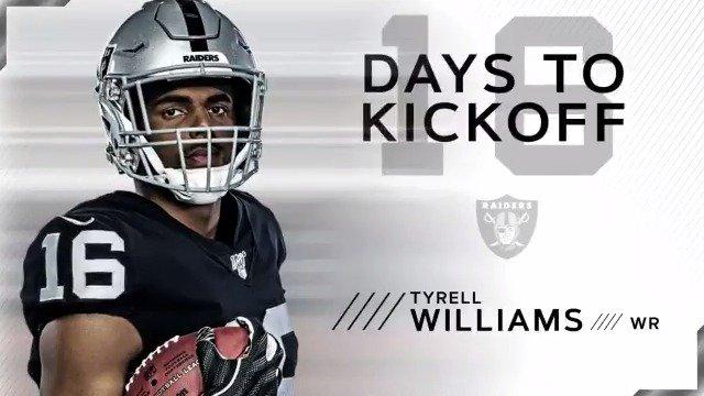 RT @Raiders: The countdown is on.   @TyrellWilliams_ X #RaiderNation https://t.co/Hm6q0MBqkz