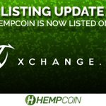 Image for the Tweet beginning: HempCoin $THC is now listed
