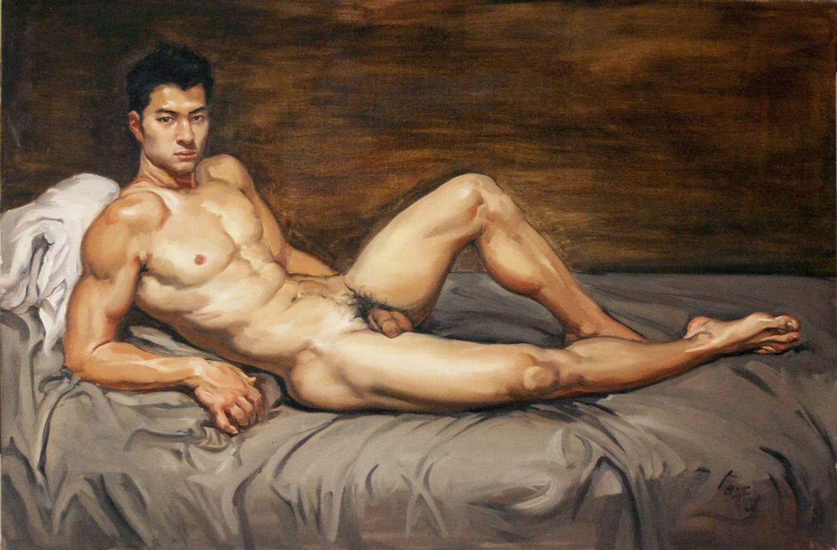 Naked men in art