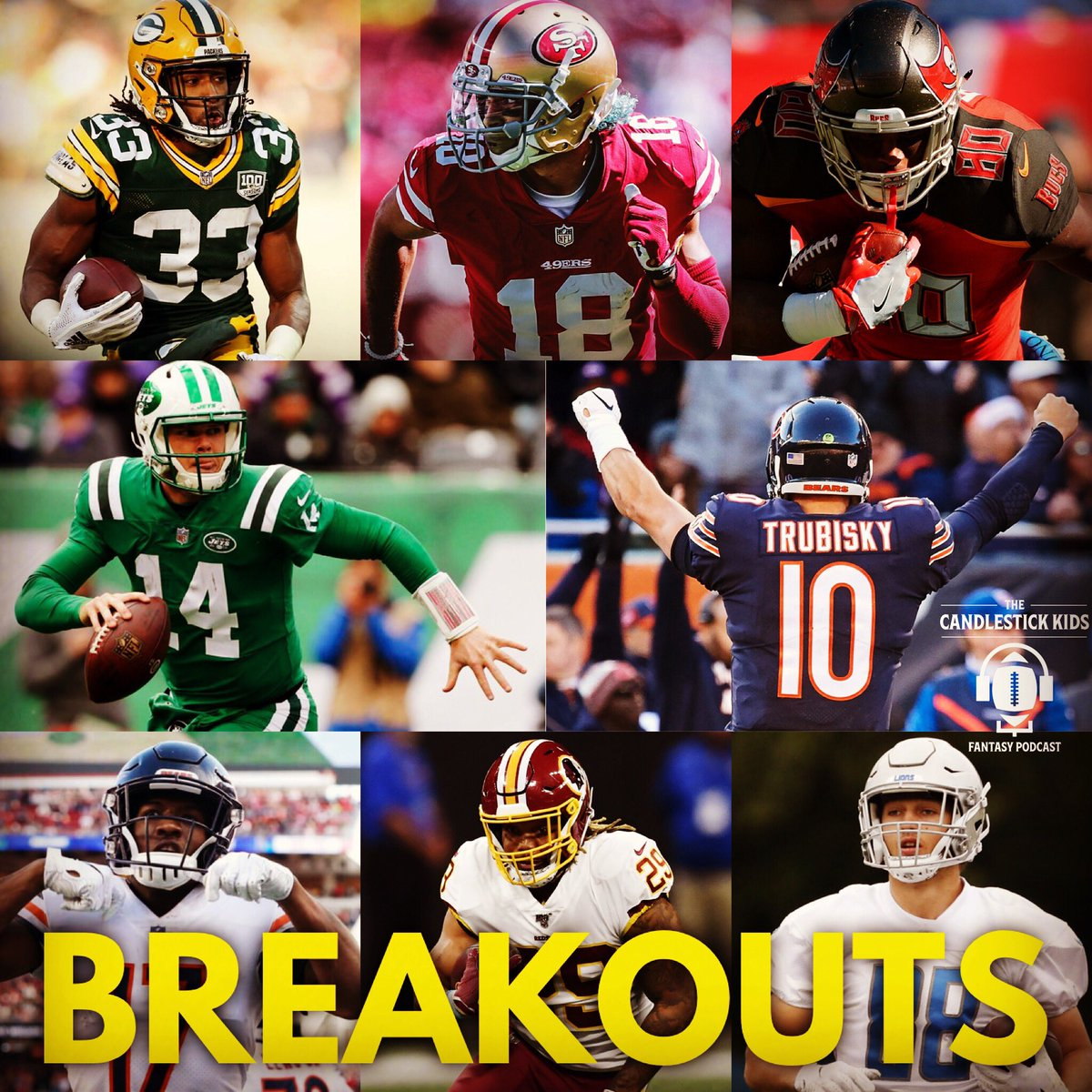 On episode 109 I discuss my top Breakouts per position with former TCK Pod co-host Daniel - QB: Mitch Trubiski / Sam Darnold RB: Aaron Jones / Derrius Guice WR: Dante Pettis / Anthony Miller TE: OJ Howard / TJ Hockenson #FantasyFootball https://t.co/lJAKuPeGNd
