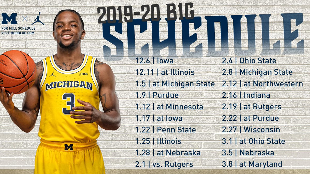 Michigan Men S Basketball On Twitter The Wait Is Over
