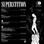 SUPERSTITION 5 YEARS AT VU - September programme  SAT 7 SEPT // @dj_nobu_ft SAT 14 SEPT // @oscarmulero FRI 20 SEPT // @maeverecords w/ @manoletough, Baikal, @philkieran LIVE, Lil'Dave SAT 28 SEPT // Job Jobse 🎫➡️  https://t.co/n2lVoE32Cx