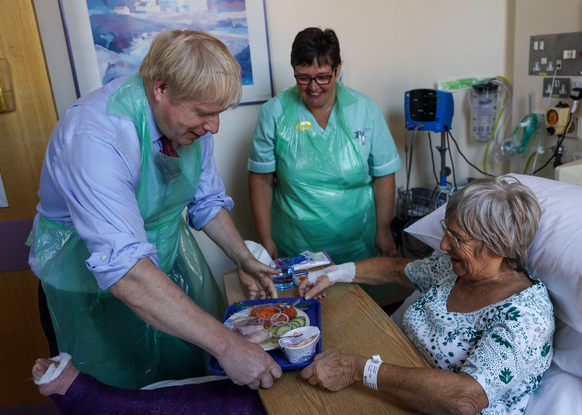 """""""Guaranteeing hospitals serve nutritional, tasty and fresh meals will not only aid patient recovery, but also fuel staff and visitors as they care for loved ones and the vulnerable."""" - PM @BorisJohnson"""