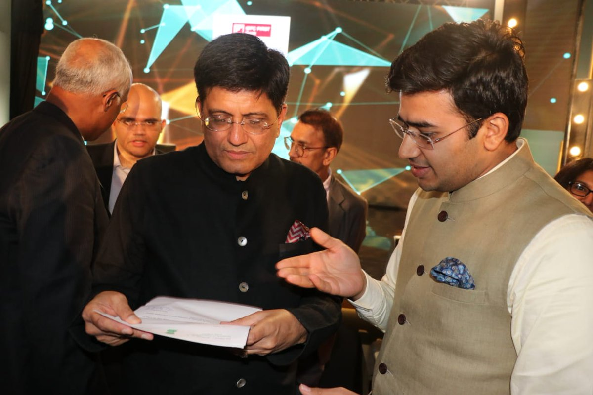 Met the Hon'ble Minister of Railways Shri @PiyushGoyal at #ETStartupAwards2019  Made a request to change the timings of 6 existing MEMUs/DEMUs to suit office-goers, especially those who travel to Whitefield/Bellandur from city centre daily  The move will help reduce pvt vehicles <br>http://pic.twitter.com/BRPxUgqV5r