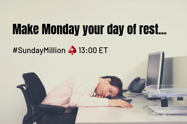 What are you doing this Sunday? $1 million guaranteed in the #SundayMillion