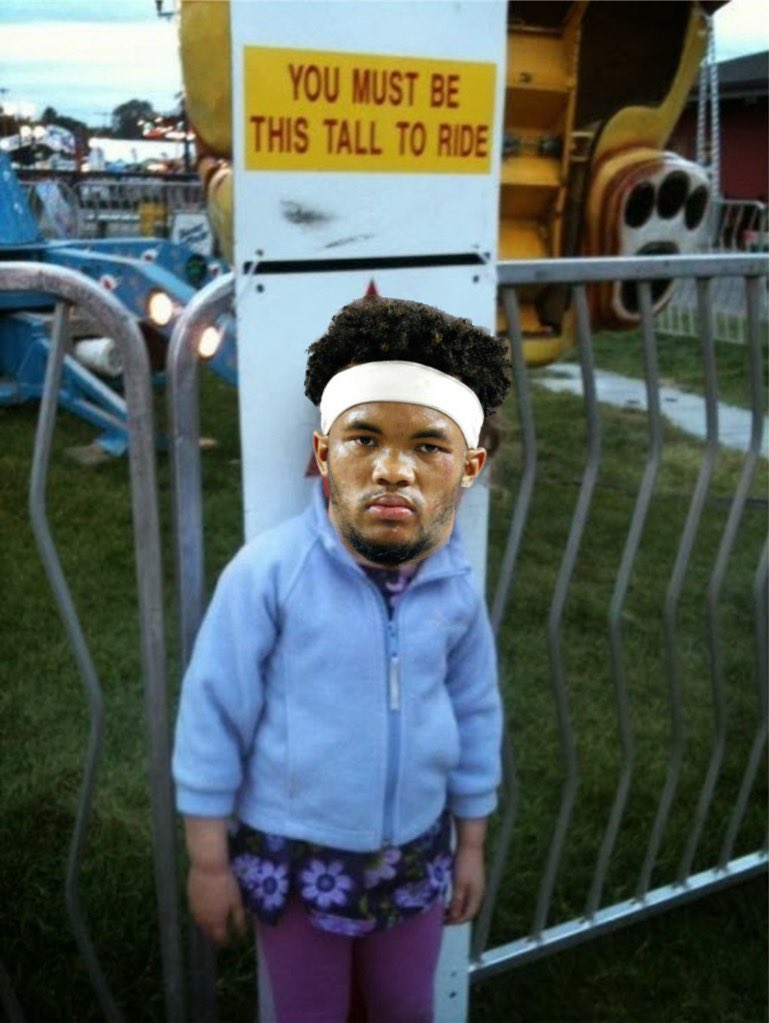 #Cardinals QB Kyler Murray denied rides at the Minnesota State Fair.   Source tells me that #1 overall pick was not tall enough to ride the rides with his teammates and was visibly upset when the carny said no. Murray is in Minnesota for a preseason game on Saturday vs Minnesota. <br>http://pic.twitter.com/U3MeHNu1XK