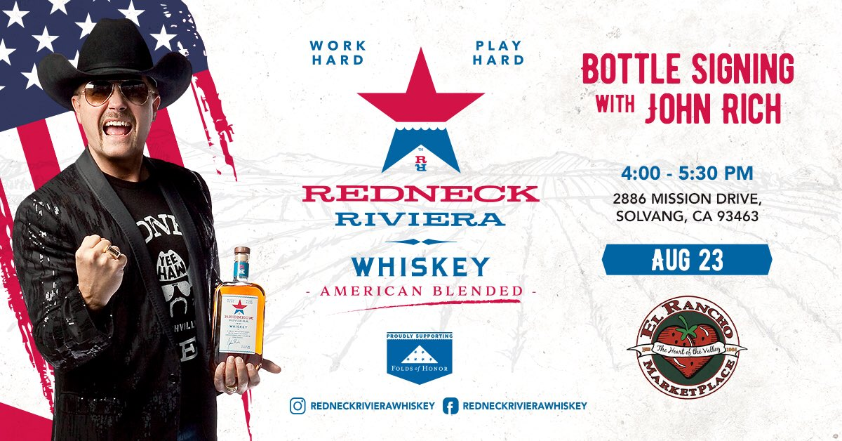 Looking forward to this signing today! Come see me if you're within a 2,000 mile drive🤣🤣 REDNECKRIVIERA.com/WHISKEY