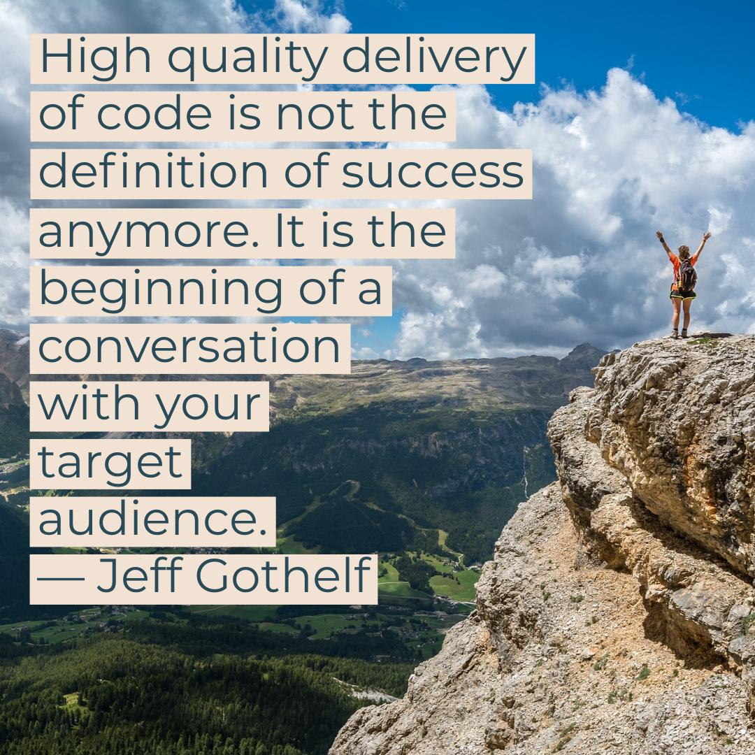 """The intersection of Agile, Lean and Design Thinking with Jeff Gothelf"" on the @AgileAtelier podcast featuring @jboogie with host Rahul Bhattacharya Summary   https:// podcasts.apple.com/ca/podcast/18- the-new-definition-of-success/id1449111253?i=1000447250907   …  Full episode  http:// bit.ly/atelier_gothel f_apple   …  #designthinking #leanstartup <br>http://pic.twitter.com/pvSn0ZcvZG"