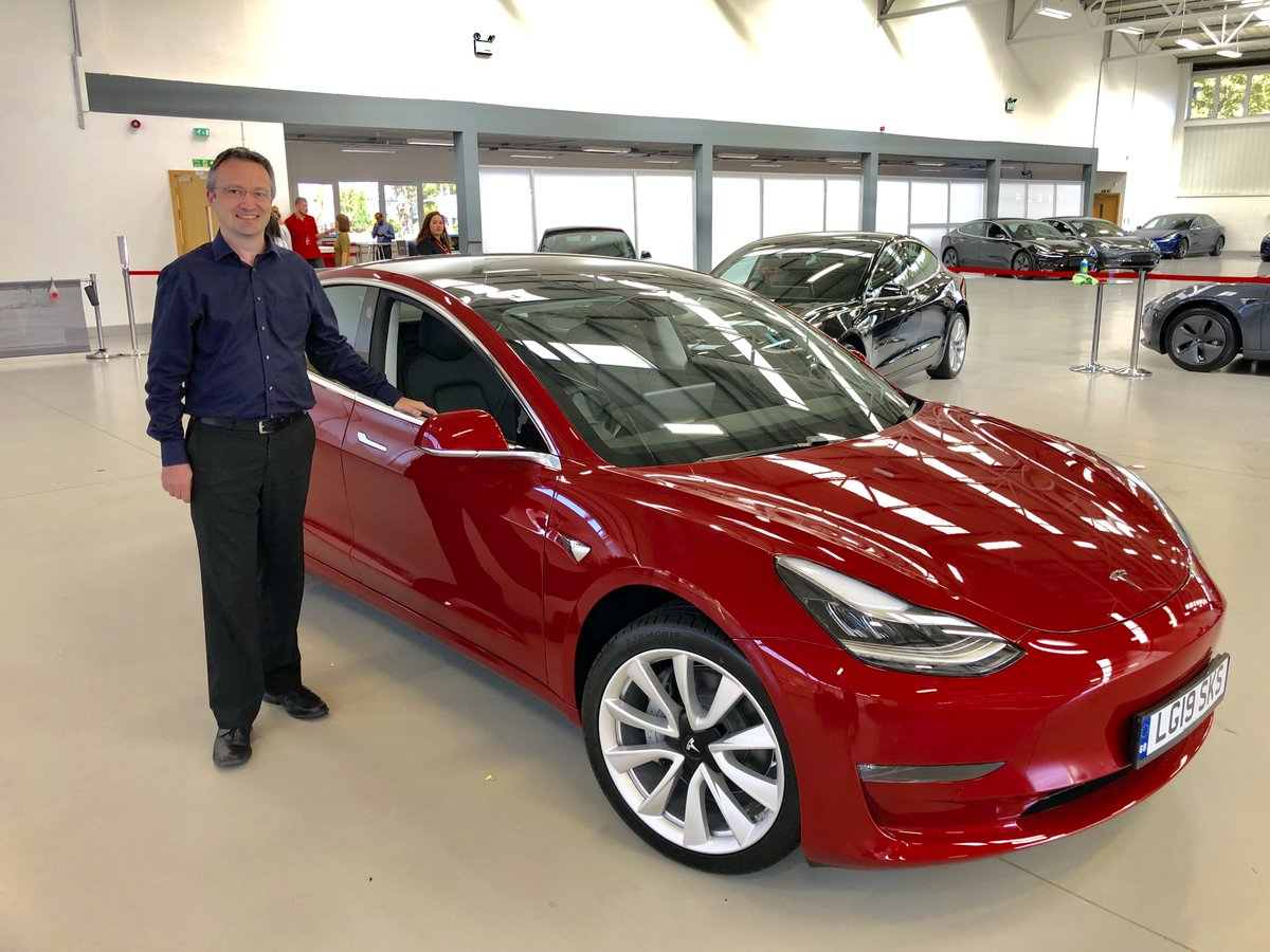 RT @nickg_uk: At last!! 3 years after putting down a deposit I have my Tesla Model 3 :)  It's fantastic :) https://t.co/tt0C8aibZz