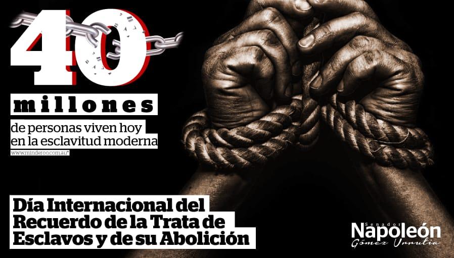 Luchemos contra la #TrataDePersonas, la #esclavitud moderna y #racismo que aún existen. México es un país de libertades y en @senadomexicano trabajamos para garantizar y proteger los derechos de todos los mexicanos. #DíaInternacionaldelRecuerdodelaTratadeEsclavosydesuAbolición