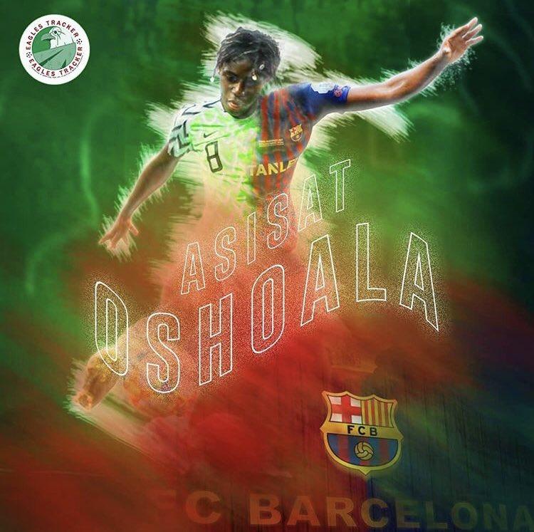 #EaglesTrackerArt - Super Falcons & #fcbfemeni @FCBfemeni forward, Asisat Oshoala @AsisatOshoala ————— Watch her latest goals on  http:// eaglestracker.com/highlights     Link in bio ————— #eaglestracker #art #superfalcons #supereagles #asisatoshoala #naijafootball #nigeria #barcelona #spain<br>http://pic.twitter.com/e6OJKfGKZq