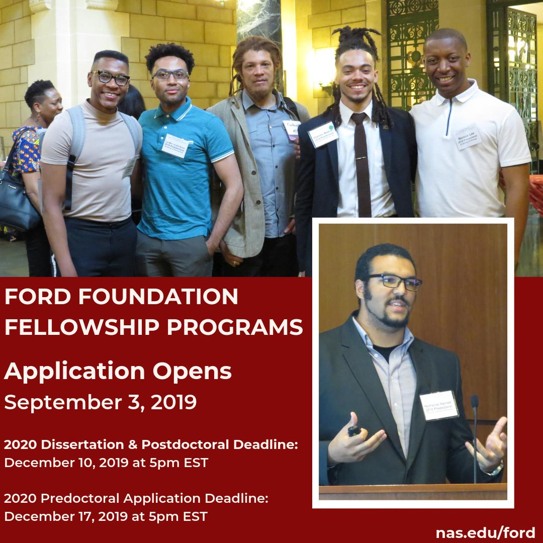 ford foundation dissertation fellowship honorable mention