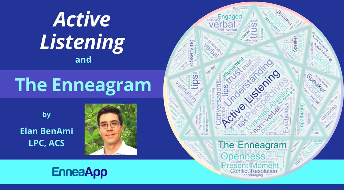 Active Listening and the Enneagram Wed Aug 28 6-7:30 MT, sign up: https://t.co/InyWWeU6LF  #Free #Enneagram #Webinar https://t.co/9RS9zdQ6iW