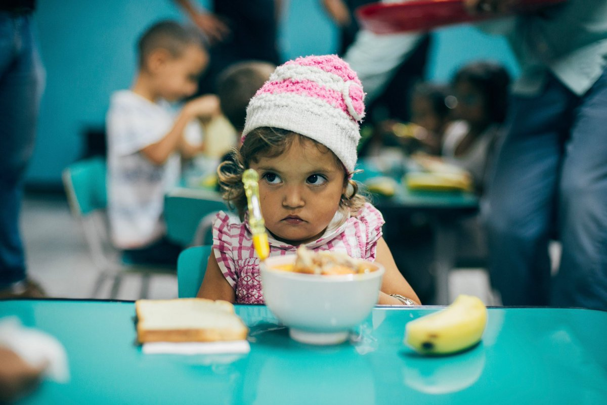Meet Camila! She came to our @WCKitchen dining room in Venezuela at risk of malnutrition. Her mother brings her everyday...and she's learning habits like washing her hands. Each day, her condition improves & we get to see her grow!  #ChefsForVenezuela<br>http://pic.twitter.com/BYgQHTFmyQ