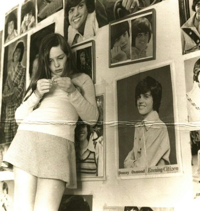 'That's me in my Donny Osmond phase. I must be 11 or 12 years old.' —Jill Bryson, Strawberry Switchblade. <br>http://pic.twitter.com/AkCdoEyFXZ