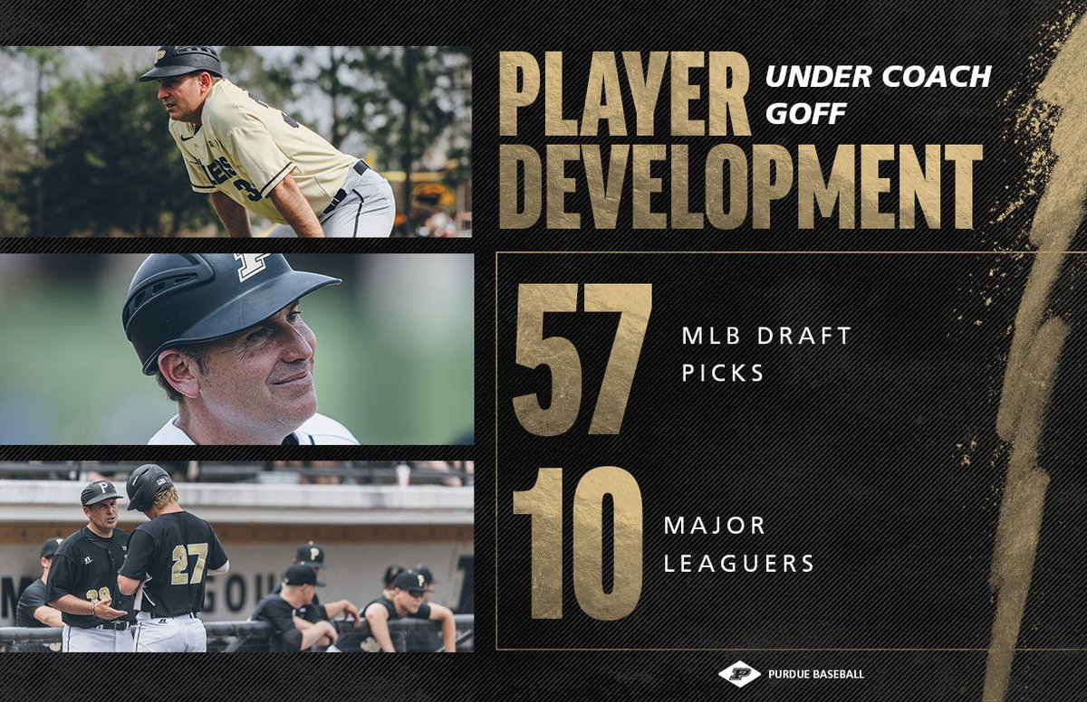 Coach Goff has had  players selected over 20 @MLB drafts.    #BoilerUp<br>http://pic.twitter.com/ZYDdfinX2O