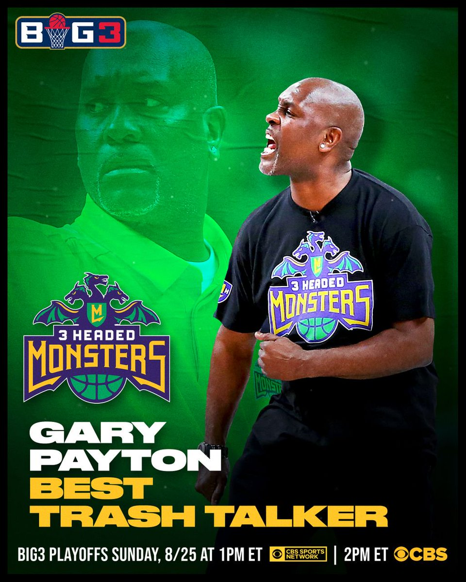 Trash talking is an art for Gary Payton! The 3 Headed Monsters coach has been voted the Best Trash Talker for the 2nd year in a row after leading his team to a late-season playoff run  <br>http://pic.twitter.com/YFVdk0GlyW