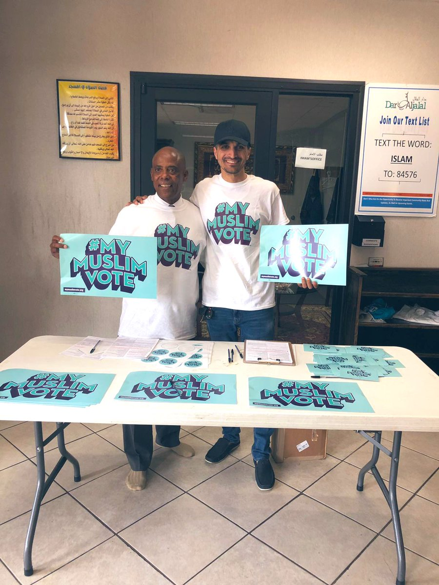 Another awesome #MyMuslimVote event in St. Louis at Masjid Dar Aljalal! Many first time voters registered today!