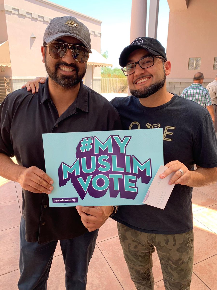 Check out @CAIRAZ's sunny #NMVRD event in Scottsdale! Folks turned out to register voters & rep #MyMuslimVote ☀️☀️☀️