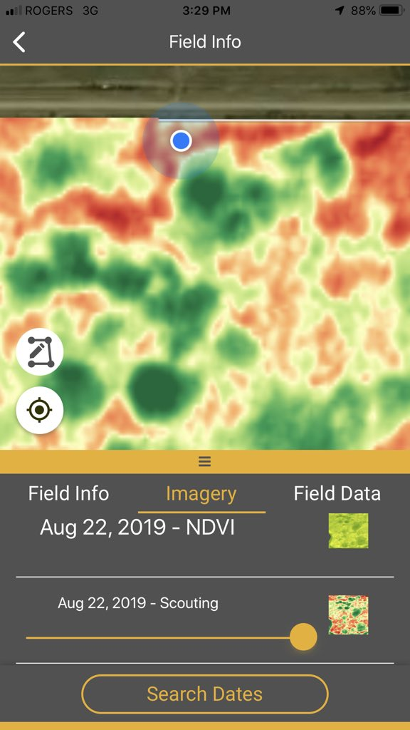 Use imagery to help measure what % of the field is ripe and what is less mature. May have to manage these areas differently in #crop19 Even though that isn't desired, at least the imagery helps you identify and define the extent of the problem <br>http://pic.twitter.com/WKgpCEizG6