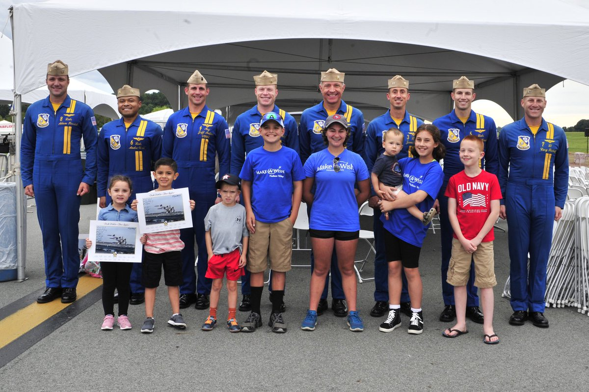 One of the best parts of our job is meeting amazing people! Today we were lucky enough to meet with Scouts from #ScoutsBSA Troop 64 and families from @MakeAWish! We can't wait to meet YOU at this weekend's New York International Air Show!