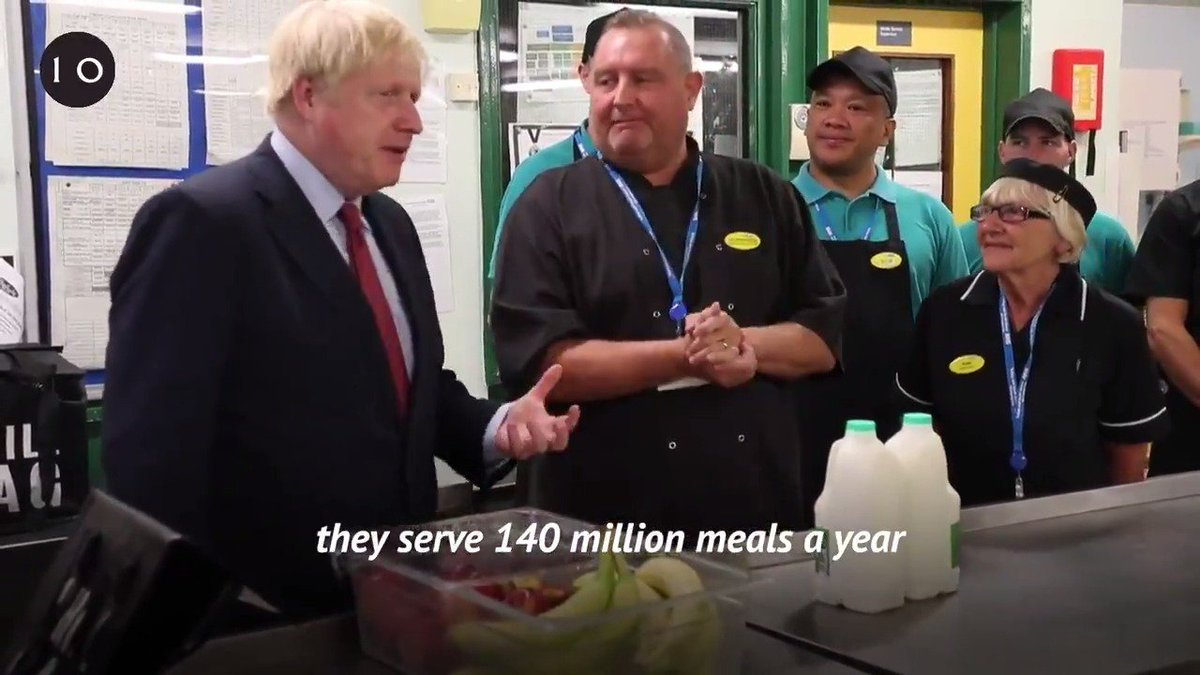 Were launching a review into food quality across the whole of the NHS, so that every patient gets a top quality meal. - PM @BorisJohnson at Torbay Hospital today