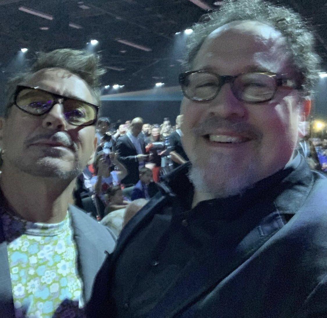 RT @77MCU: Robert Downey Jr and Jon Favreau #D23Expo https://t.co/j8iOtpV8bI