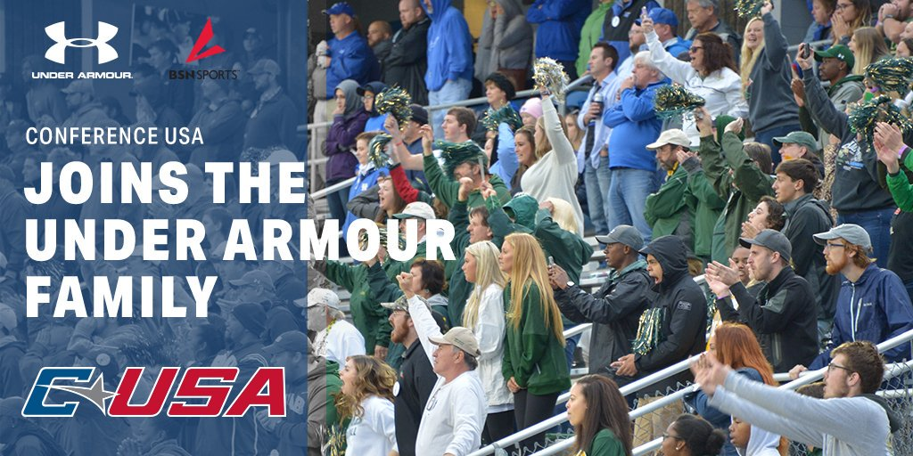 📢: Conference USA announces multi-year deal with @UnderArmour and @BSNSPORTS. Learn more: bit.ly/2Zo6a3N