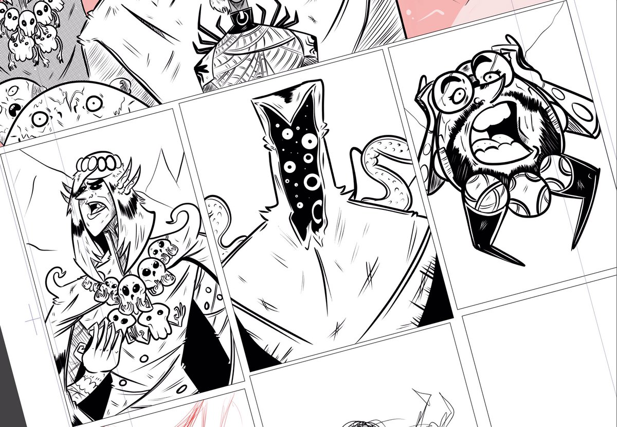 Doing some inking today! #MakeComics <br>http://pic.twitter.com/MGJ1iMex9a