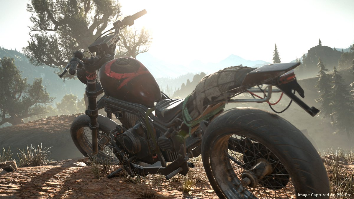 With our latest patch, we released three free bike decals for #DaysGone! We are so honored to be representing @SonySantaMonica God of War, @Pixelopus Concrete Genie, and nod to Squids! Download the patch and head to a mechanic to apply the decals. <br>http://pic.twitter.com/I6HYpVzLkd