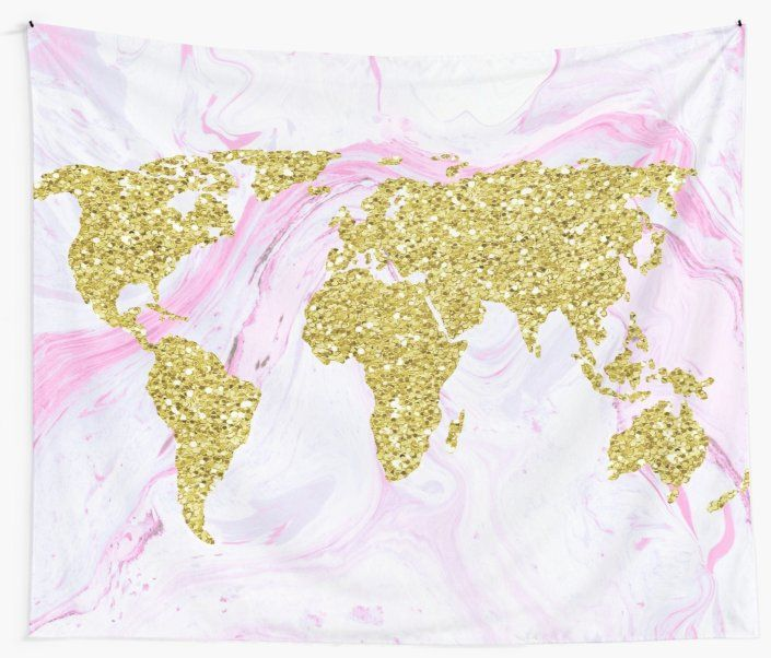 #tapestries from my @redbubble store are a hot commodity this season! https://buff.ly/2MzkX5x #tapestry #worldmap #gold #gliter #marble #pink #trendy #modern #art #style #homedecor #dormroom #dormdecor #decoration #redbubble #decor #backtoschoolpic.twitter.com/uoP9TMAcJC