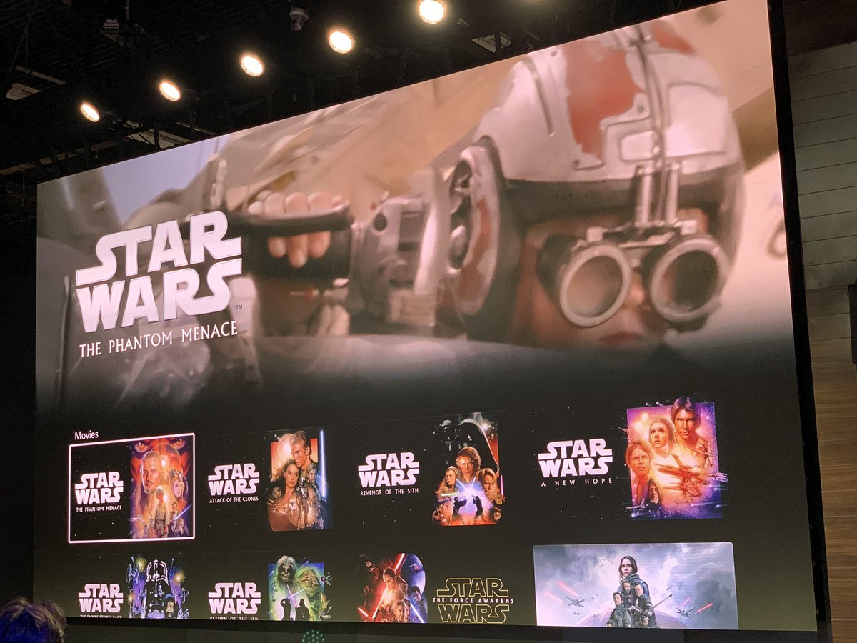 Laughingplace Com On Twitter The Disneyplus Menu For The Star Wars Page Including Of Course Star Wars A New Hope D23expo