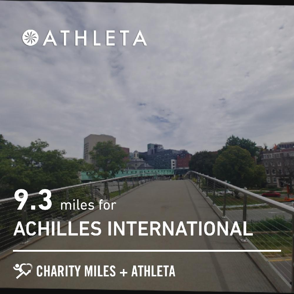 9.27 @CharityMiles 4 @achillesintl. Thx @Athleta. #CharityMiles #EveryMileMatters #cycling #fitfather/#healthydaddy/#dadbod/#fitboss #gogreen #ecofriendly #healthymobility #activetravel #bike #commutebybike #optoutside #thriveoutside #thisis38 #parkandpedal. #noshortcuts.