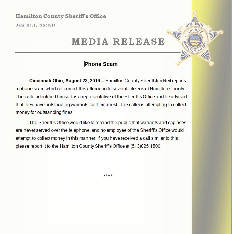 Hamilton County Sheriff's Office-Sheriff Jim Neil (@hcso_org