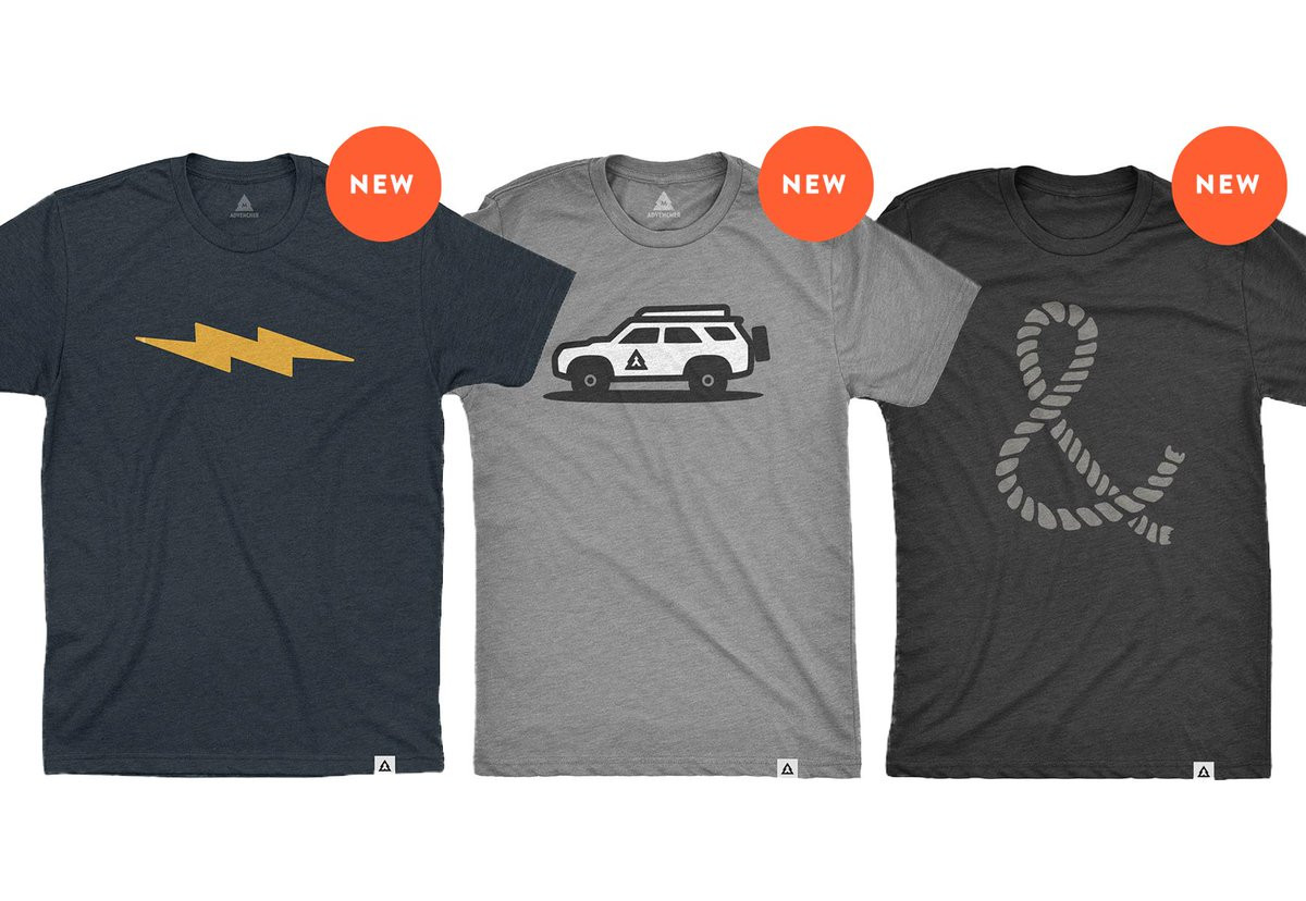 We still have to have a few more product shots to add, but we just launched 3 spiffy new tee designs! advencher.co