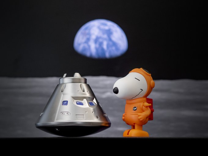 Explore with us! We've worked to send @Snoopy on a STEM mission to space. We'd love to see the adventures your #AstronautSnoopy toys take! Read all about it & send pics of their @Space_Station missions, trips to the Moon & beyond in @NASA_Orion or voyages in the @NASA_SLS rocket.