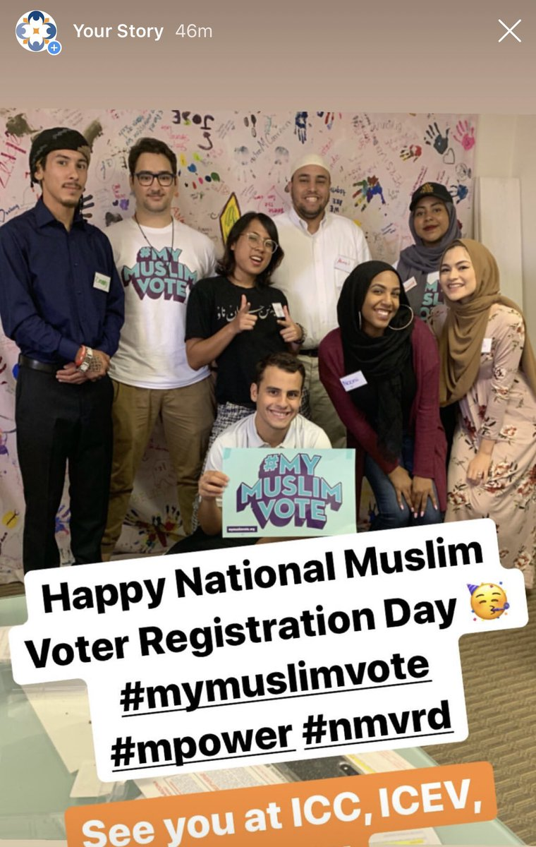 The @CAIRAZ Team reppin National Muslim Voter Registration Day. ✊🏽