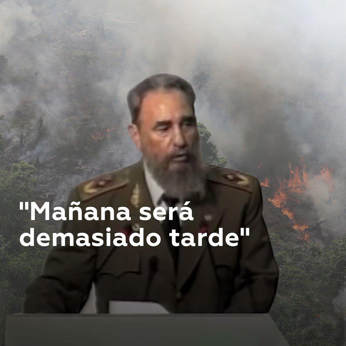 Hace 27 años, el líder cubano Fidel Castro pronunció su discurso en la Conferencia de las Naciones Unidas sobre el Medio Ambiente y el Desarrollo que acogió Río de Janeiro (Brasil). Sus palabras provocan escalofríos si se tiene en cuenta la destrucción de la Amazonía hoy en día