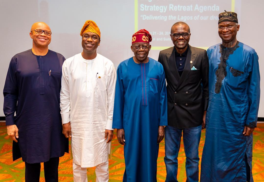 Today, @AsiwajuTinubu and HE @tundefashola attended a session of the ongoing retreat for Cabinet Members and Permanent Secretaries. It was a good day to learn from these two men who raised the bar of governance in Lagos. https://t.co/7E5GBvvtc7