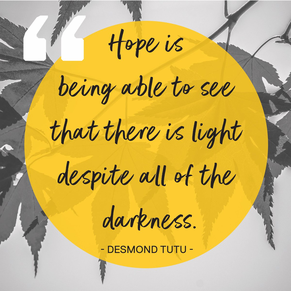 Wise words from Desmond Tutu about #hope. @GGSPosEd #PositiveEducation #PosEd #wellbeing