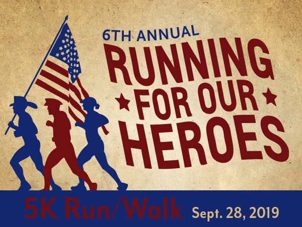The 6th Annual Running for Our Heroes 5K run/walk is Saturday, Sept. 28, at 9 a.m. Register before Sept. 9 to receive the early rate! https://t.co/fPZAc1R6va https://t.co/EJeCL76yzb