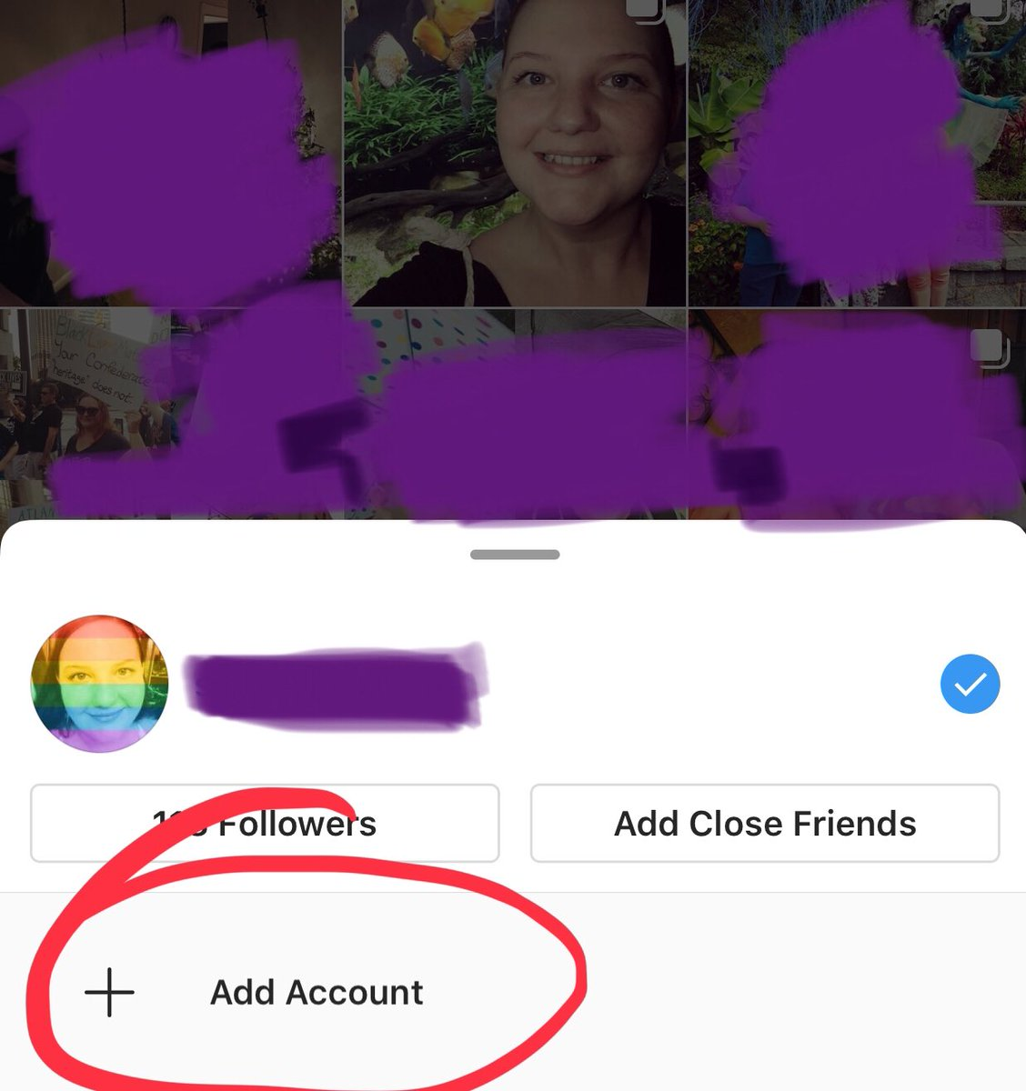 Was thinking of doing a Stina instagram. I own 1 phone (but 2 numbers) and currently have a personal instagram. If I push that botton to add an account, will my family be able to see my Stina account, & will my clients be able to see my personal account? How do I keep separate?